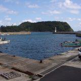 【鳥取~島根の海沿いルート】途中の鄙びた港です。
